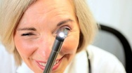 Examination by Senior Medical Consultant Stock Footage
