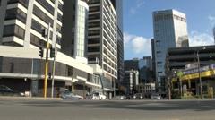 Traffic in Wellington City Street, New Zealand - stock footage