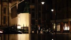 Mayfair Night Taxi Stock Footage