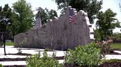 Military Memorial Statue Park Stock Footage