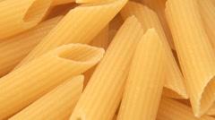 Close Up of Penne Pasta Rotating - stock footage