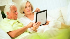 Senior Couple at Home with a Wireless Tablet Stock Footage
