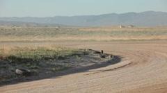 Dirt track race around corner P HD 9413 Stock Footage