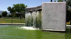 Water Fountain With Green Water Beautiful Stock Footage