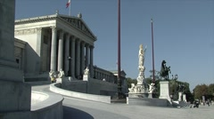 Stock Video Footage of Austrian Parliament in Vienna