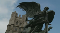Cathedral of St. John the Divine and the Peace Fountain (two) - stock footage
