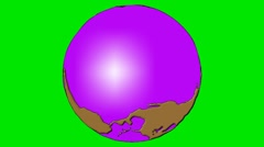 ROTATING GLOBE,multiple axes rotating globe. - stock footage