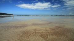 Sand Patterns on Fermoyle Strand Beach, Ireland GFHD Stock Footage