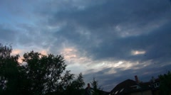 Evening Clouds timelapse 20110714-201706 tp38 Stock Footage
