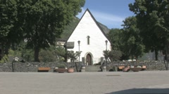 White church in Norway Stock Footage