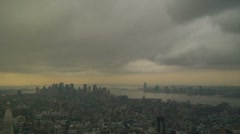 Storm over Manhattan Stock Footage
