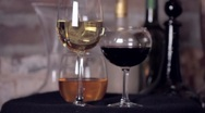Isolated Wine Glasses Stock Footage