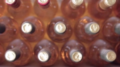 Wine Bottles Stock Footage