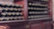 Wine Bottles Stock Footage
