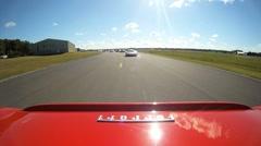 Ferrari onboard camera on race track Stock Footage