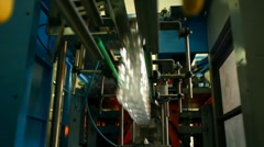 Production of plastic bottles for mineral water Stock Footage