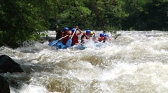 Rafting 1 - stock footage