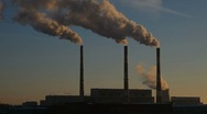 Thermal power plant, time-lapse Stock Footage