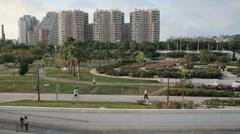 Valencia City Park Stock Footage