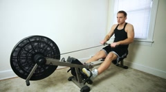 Rowing Machine Stock Footage