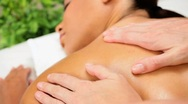 Young Ethnic Female Having Massage Therapy Stock Footage