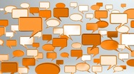 Stock Video Footage of many conversation icons orange HD