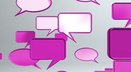 Stock Video Footage of many conversation icons Pink HD