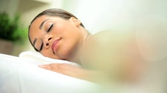 Ethnic Female Relaxing After Luxury Body Massage - stock footage
