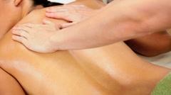 Stock Video Footage of Ethnic Female Enjoying Spa Massage
