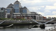 Stock Video Footage of Financial Buildings in Dublin City Centre