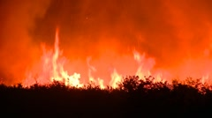 Fire in prairie Stock Footage