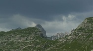 Views of the mountains peaks in summer Stock Footage