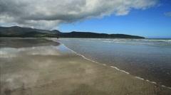 Fermoyle Strand Beach with Waves, Ireland GFHD Stock Footage