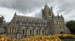 Christ Church Dublin Stock Footage