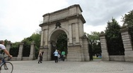 Stock Video Footage of St. Stephens Green Gate Dublin