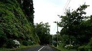 Driving in the Azores Stock Footage