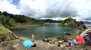 Vila Franca do Campo islet Stock Footage