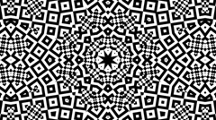 Black and White Kaleidoscopic Loop - stock footage