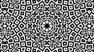 Stock Video Footage of Black and White Kaleidoscopic Loop