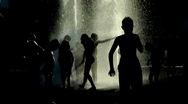 Children bathe in the fountain Stock Footage