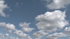Canted Cumulus wide open space Stock Footage