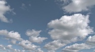 Stock Video Footage of Canted Cumulus wide open space