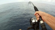 Stock Video Footage of Point of View: Fishing Action