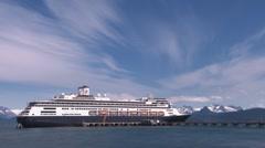 Cruise Ship Boarding Skylapse Stock Footage