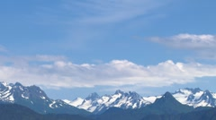 Kenai Mountains and Cloudlapse 1b - stock footage