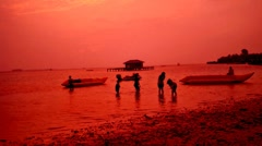 Morning in Beach of Tidung Island Jakarta Stock Footage