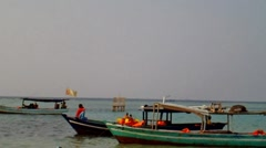 Traditional Boat in the Beach of Tidung Island Jakarta Stock Footage