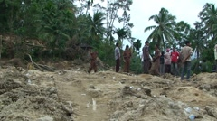Earthquake Destruction Indonesia - Devastating Landslide Stock Footage