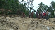 Stock Video Footage of Earthquake Destruction Indonesia - Devastating Landslide