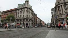 Dublin City Centre Ireland Stock Footage
